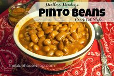 Pinto Bean Seasoning Mix and Crock Pot Pinto Beans. Crock Pot Slow Cooker, Crock Pot Cooking, Cooking Pasta, Vegetable Dishes, Vegetable Recipes, Enchiladas, Mexican Food Recipes, Whole Food Recipes, Diabetic Recipes