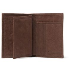 Italian label <a href='http://www.mrporter.com/mens/Designers/Brunello_Cucinelli'>Brunello Cucinelli</a> was founded in 1978 as a small cashmere sweater business and has since developed into a global luxury brand that supplies tailoring and leather goods. This remarkably soft full-grain nubuck wallet is packed with card slots, bill sleeves and pouch pockets and is lined in rustic canvas. It's distinguished with subtle designer stamps, while the sumptuous brown hue is timeless.
