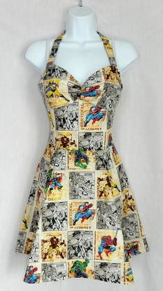 Custom Marvel Avengers dress. $40.00, via Etsy. By: Rebecca Wyman... totally getting this someday