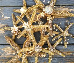 these  glass glittered seastar ornaments will be for sale at the Mermaid's Mercantile on Nov 27TH  themermaidsmercantile.blogspot.com