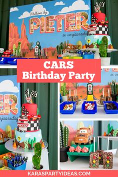 Kara's Party Ideas Cars Birthday Party | Kara's Party Ideas Boys First Birthday Party Ideas, Girl Birthday Decorations, Cars Birthday Parties, 2nd Birthday, Race Car Party, Race Cars, Disney Cars Birthday, Baby Party, Disneyland