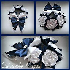 Одноклассники Bun Wrap, Kanzashi Tutorial, Kanzashi Flowers, Ribbon Crafts, Bandeau, Bun Hairstyles, Hair Pins, Balloons, Wraps