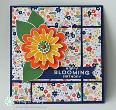 stamp, flower patch, ami paper, paper flowers, flower pots, bloom card, scrapbook pages, cards diy, paper crafts