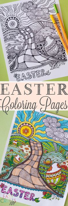 Free Easter Coloring Pages for Adults (and kids, too!). This is so pretty!