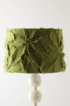 frayed-edge flower lampshade -- love it!