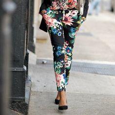 Floral print pants :)