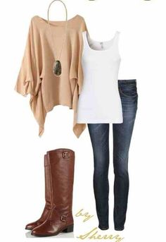 Love the camel sweater...not sure how it would look on shorter frame.  Love the necklace!