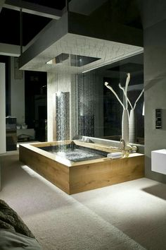 dream bathrooms Today we select 5 Modern Bathroom Design to 2018 that you'll fall in love with. We can have environments with modern but eccentric styles wich will differenciat Dream Bathrooms, Beautiful Bathrooms, Luxury Bathrooms, Modern Bathrooms, Spa Bathrooms, Master Bathrooms, Fancy Bathrooms, Mansion Bathrooms, Modern Interior Design