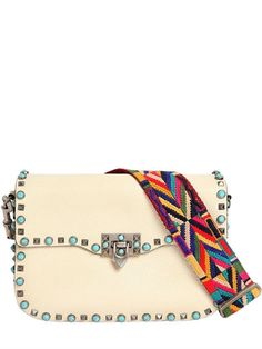 8e304e471cd8 VALENTINO Rockstud Rolling Bag W Embroidered Strap