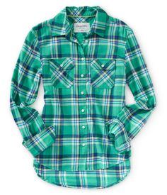 Long Sleeve Plaid Woven Shirt from Aeropostale