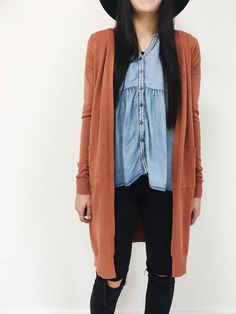 Creekside Cardigan in Rust | ROOLEE