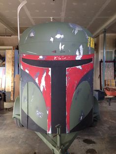Horse trailer painted out to be Boba Fett!