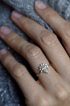 http://rubies.work/0804-multi-gemstone-earrings/ Diamond Ring | MinimalVS on Etsy