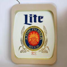 Vintage Miller Lite Lighted Beer Sign by backstashandbygones, $65.00