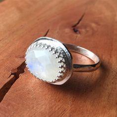 Custom order moonstone ring Moonstone Ring, Gemstone Rings, Jewellery, Gemstones, Jewels, Gems, Schmuck, Minerals, Jewelry Shop