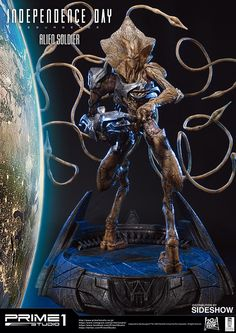 Independence Day: Resurgence Alien Soldier Polystone Statue by Prime 1 Studio Alien Creatures, Fantasy Creatures, Anubis, Independence Day Alien, Alien Soldier, Lego Marvel's Avengers, Aliens Movie, Comic, Sideshow Collectibles