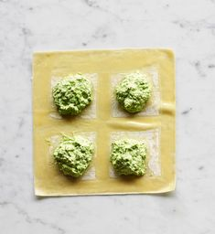 ... make multiple ravioli very quickly. Our Pea and Fresh Mint Raviol