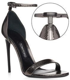 Tom Ford T Simple Strap Sandals in Gunmetal