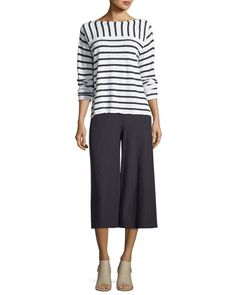 Organic Linen/Cotton Striped Top and Matching Items by Eileen Fisher at Neiman Marcus.