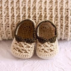 Originales zapatitos en crochet!