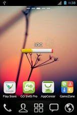 Technology アプリ「タバコのバッテリインジケータ」。電池の残量をタバコで表現している。