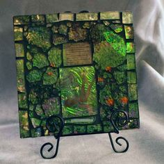 The Art of Crash Glass - mosaic using glass from old shower door Mosaic Tile Art, Mosaic Crafts, Mosaic Projects, Mosaic Glass, Fused Glass, Stained Glass, Glass Art, Art Night, Mosaics