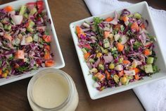 Chopped Salad Recipe with Tangy Tahini Vinaigrettee- and information on buying a mezzaluna to chop with