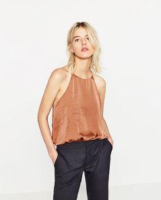 Image 2 of SATIN BODYSUIT from Zara