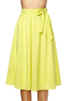 Sunshowers Midi Skirt #yellow