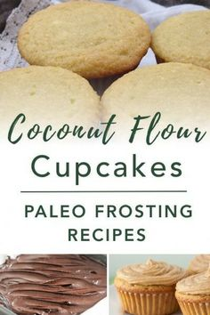 A simple Paleo Coconut Flour Cupcakes recipe that is gluten-free, grain-free, refined sugar free, and dairy free! Plus, ideas for healthy Paleo Frosting Recipes. #coconutflour #paleodessert #healthy #glutenfree #paleodiet #paleorecipe #paleosnack #dairyfree #eggfree #sugarfree #nutfree Paleo Muffin Recipes, Diabetic Recipes For Dinner, Real Food Recipes, Healthy Recipes, Paleo Frosting, Frosting Recipes, Paleo Dessert, Gluten Free Desserts, Coconut Flour Recipes
