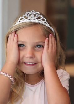 When I grow up I want to be Rosie. She eats cotton candy, wears a tutu and tiara, loves sparkles, pink and shopping.