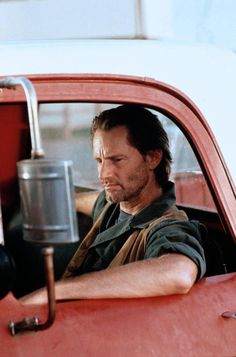"""""""Don't fall for someone who's got more troubles than you."""" Sam Shepard stars in Michael Fields' singular, rarely revived 1990 road movie… Valerie Perrine, Burt Young, Dermot Mulroney, Sam Shepard, Falling For Someone, Most Stylish Men, Patti Smith, Dvd Blu Ray, Man Crush"""