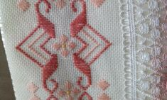 Knot Blanket, Blanket Stitch, Bargello, Lace Dream Catchers, Diy And Crafts, Arts And Crafts, Swedish Weaving, Hand Embroidery Flowers, Hardanger Embroidery