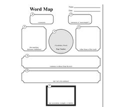 Mind Map Template For Word  Concept Or Vocabulary Word Map  Mind