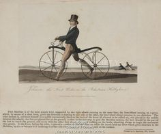 'Johnson, the First Rider on the Pedestrian Hobbyhorse', 1819.