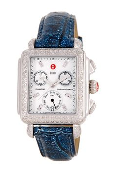 Limited Edition Deco Diamond Pave Chronograph Watch