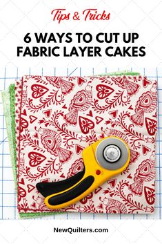 6 Ways to Cut Up Fabric Layer Cakes - New Quilters - Learn six different ways to cut up a quilt fabric square to use it for quilting or sewing. Quilting For Beginners, Quilting Tips, Quilting Tutorials, Quilting Projects, Sewing Projects, Sewing Tips, Sewing Tutorials, Sewing Hacks, Sewing Ideas