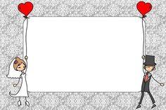Wedding: Couple in Balloon Free Printable Invitations. Wedding Art, Free Wedding, Wedding Couples, Wedding Photos, Free Printable Invitations, Wedding Invitation Templates, Wedding Invitations, Wedding Symbols, Ideas Aniversario