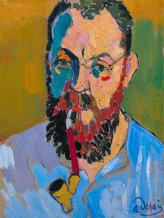 Fauvism is colorful style of painting developed by Henri Matisse and Andre Derain who used vibrant colors, simplified drawing and expressive brushwork. Andre Derain, Henri Matisse, Figure Painting, Painting & Drawing, Matisse Pinturas, Fauvism Art, L'art Du Portrait, Portraits, Matisse Paintings
