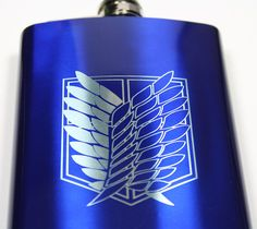 Attack on Titan 8 oz Survey Corp Flask on Etsy, $20.00