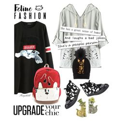 """""""Cat Style ,Feline Fashion for the Weekend"""" by ragnh-mjos ❤ liked on Polyvore featuring WithChic, Sienna Sky and Dolce&Gabbana"""