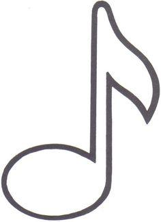 notas musicais de feltro molde - Pesquisa Google Mais