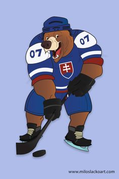 Maskot MS v ladovom hokeji 2019 - Milos Lacko Hockey World, World Championship, Ice Hockey, Ms, Illustration Art, Artwork, Character, Work Of Art, Auguste Rodin Artwork