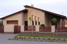 House Gate Design, Fence Design, My House Plans, Modern House Plans, Facade House, House Roof, Style At Home, House Plans South Africa, Bungalow Haus Design