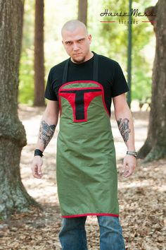 Star Wars Boba Fett inspired mens apron by HauteMessThreads