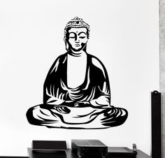 Wall Vinyl Decal Buddha Buddhism Yoga Zen Meditation Home Interior Decor Meditation Scripts, Daily Meditation, Buddha Buddhism, Buddha Art, Buddha Tattoo Design, Home Interior, Vinyl Wall Decals, Art Sketches, This Is Us