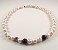 Freshwater pearl setNecklaceBracelet by JiaojiaosPearls on Etsy