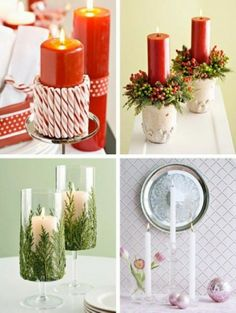 Decoration of Christmas Candles - Do It Yourself at Home