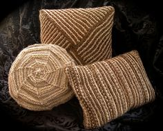 Trio of HandKnit Pillows in Tweed Tones of by janiechampagnie, $85.00