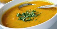 Sopa detox - INGREDIENTES: 1 xíc abóbora, 1 cenoura, 3 inhames,1 tomate, 1 cebola, 2 dentes alho, todos picados; 1 col sop cheia de gengibre ralado; 1 col sop de azeite; 1 col chá de açafrão; 1 ramo de alecrim ; sal marinho a gosto./ MODO DE PREPARO: - Refogue a cebola e alho no azeite. Acrescente a cenoura, tomate, inhame e abóbora e refogue + um pouco. Coloque água e deixe ferver até amolecer. Bata no liquidif. e volte ao fogo para engrossar. Ponha o açafrão, o gengibre, o alecrim e o sal…